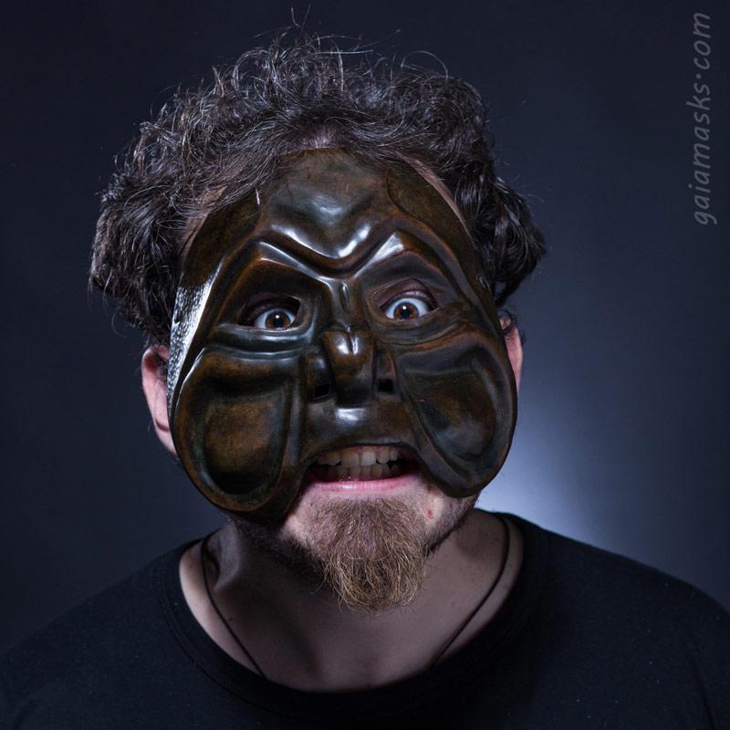 maschera in cuoio  Brighella Bulldog
