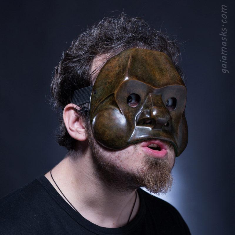 maschera in cuoio Giovane Brighella