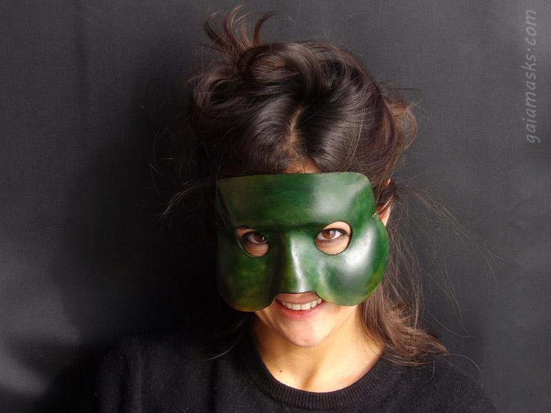 maschere in cuoio Brighella