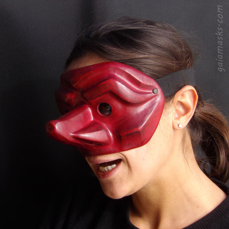 maschera in cuoio Capitano Francese