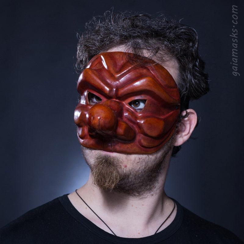 maschera in cuoio Capitano Spagnolo