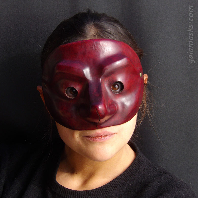 maschera in cuoio Capitano Stupido