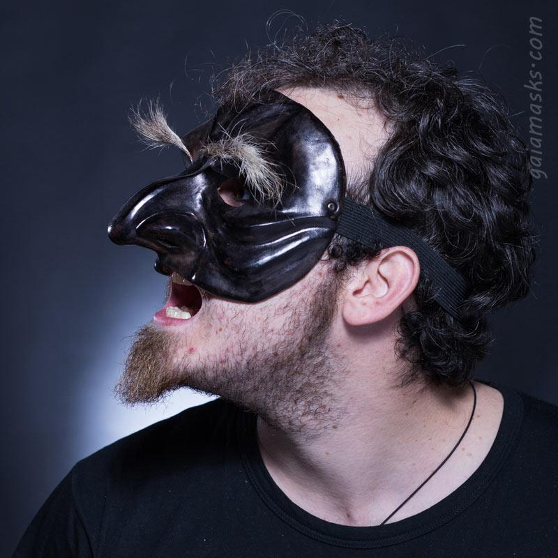 maschera in cuoio Magnifico