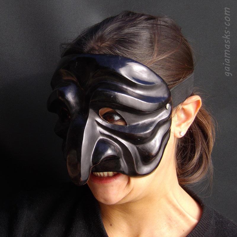 maschera in cuoio Pantalone Triste