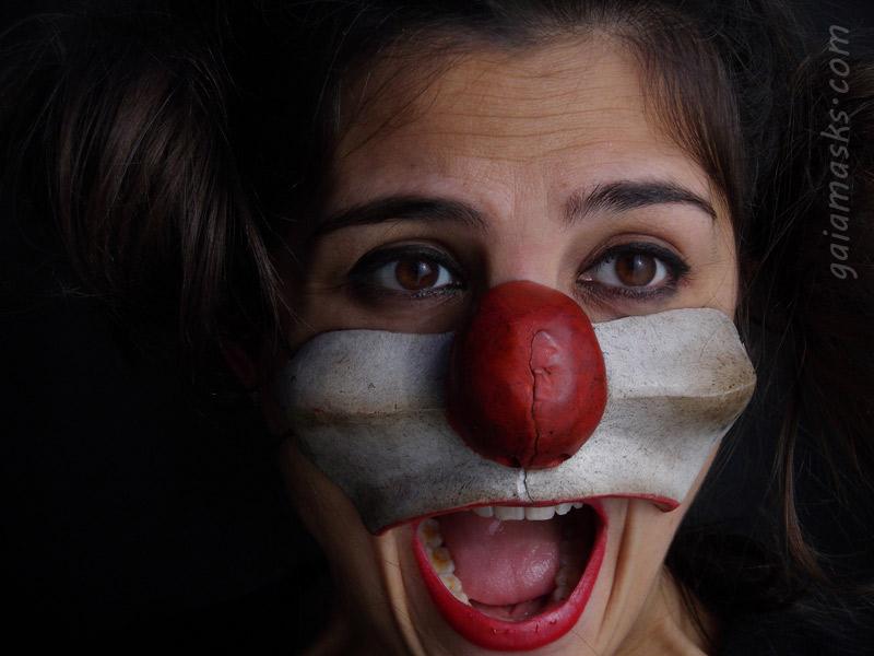Clown Sostenuto naso e guance