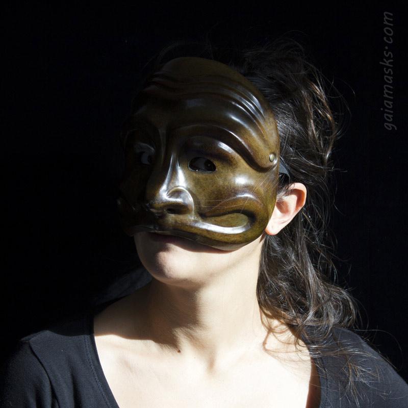 maschera in cuoio Siur Brighella