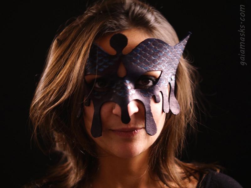 maschere in cuoio dei quattro elementi acqua