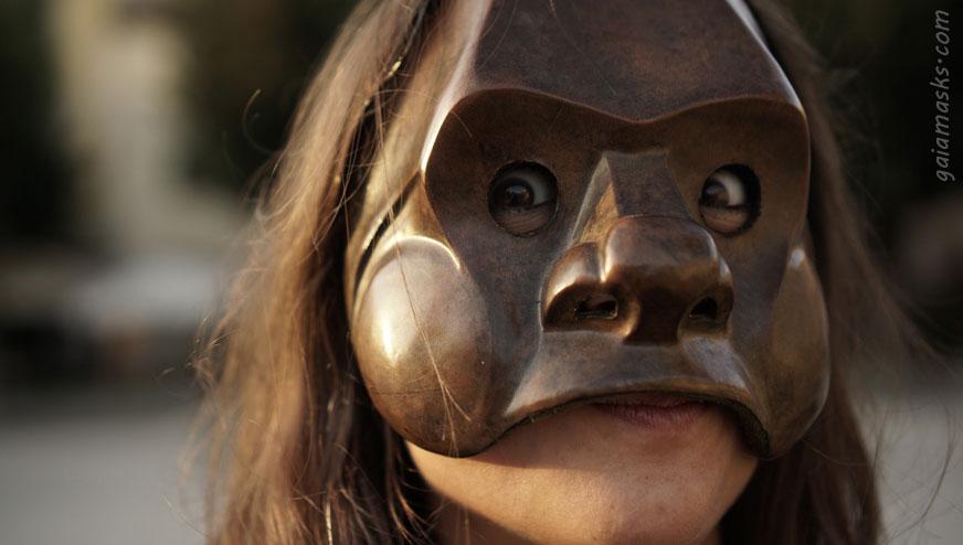 Maschera Commedia dell'Arte Brighella Giovane