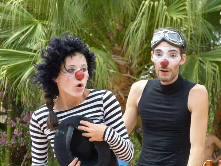 coppia di clown naso tondo e a punta