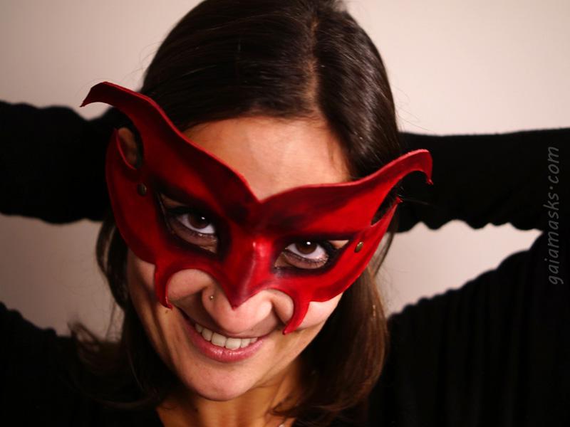 maschera diavolo in cuoio