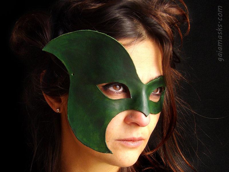 maschera Farfalla asimmetrica in cuoio