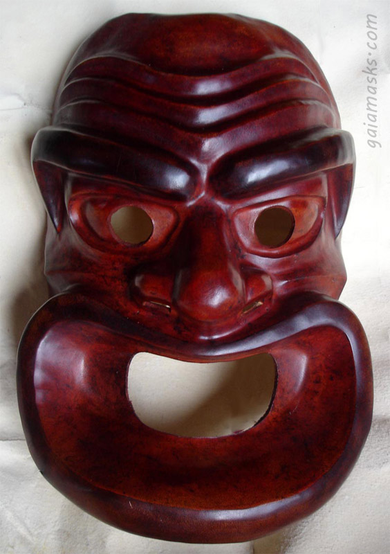 maschere greche in cuoio servo