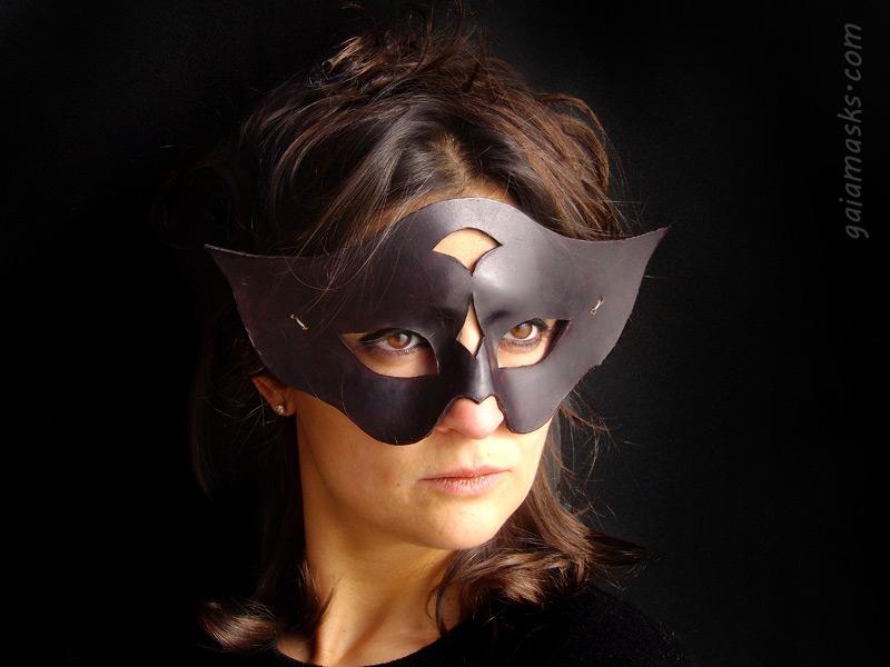 maschera in cuoio di halloween Gufo