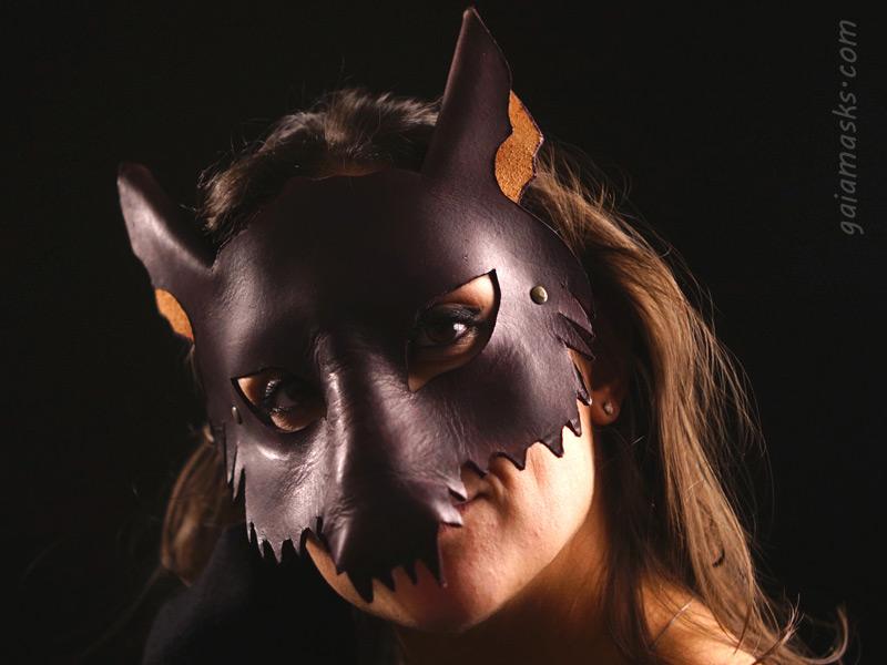 maschera di halloween lupo
