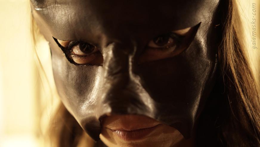 Maschera in cuoio Demonio