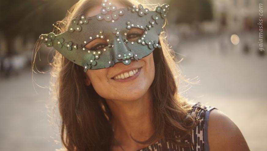 Maschera in cuoio Fiore