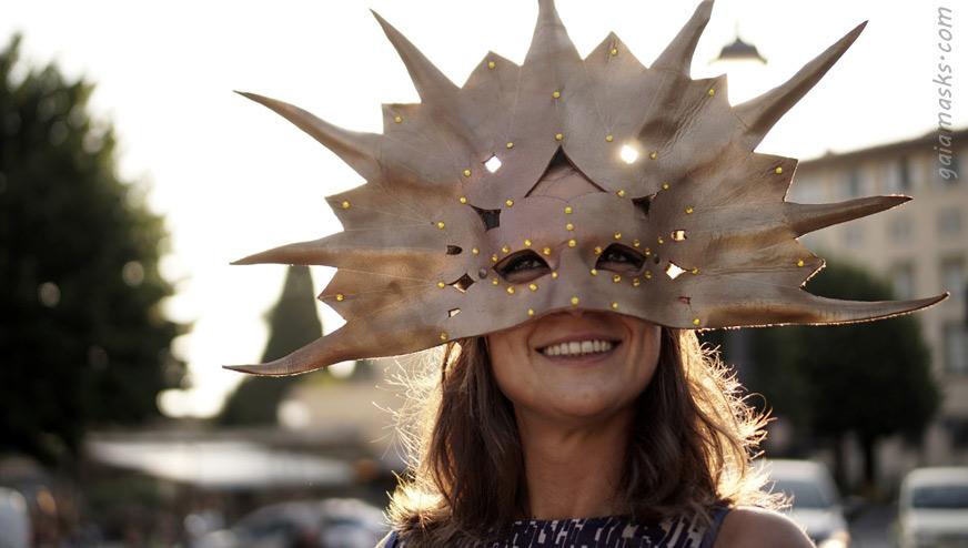 Maschera in cuoio Grande Sole