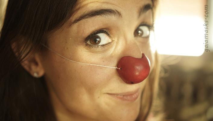 nasi clown in cuoio: tondo piccolo
