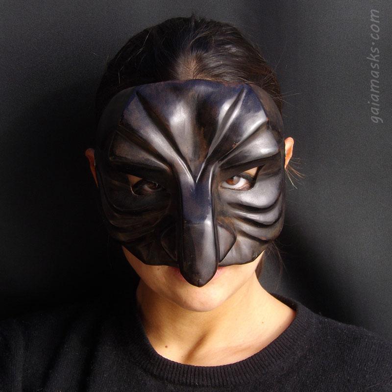 maschera in cuoio Pantalone Gufo