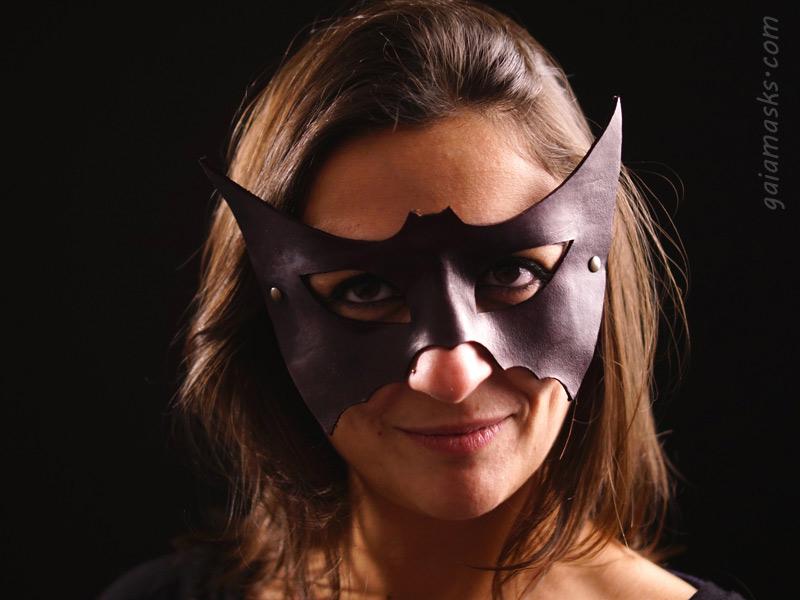 maschera in cuoio Pipistrello