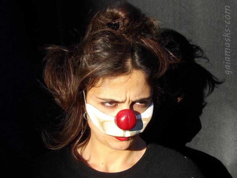 maschera Clown Serioso