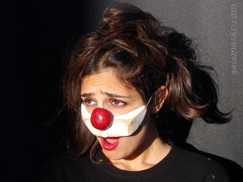 maschera clown in cuoio Serioso