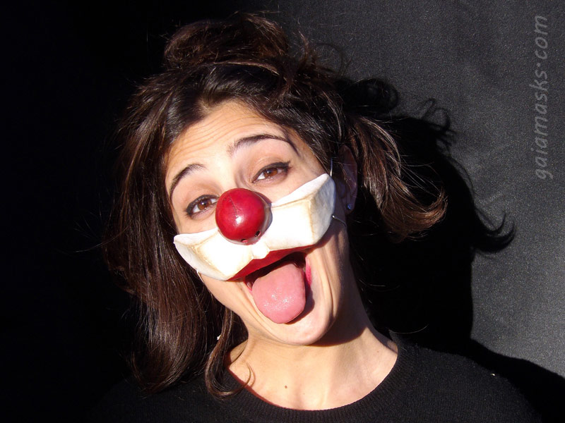 Clown Serioso naso e guance