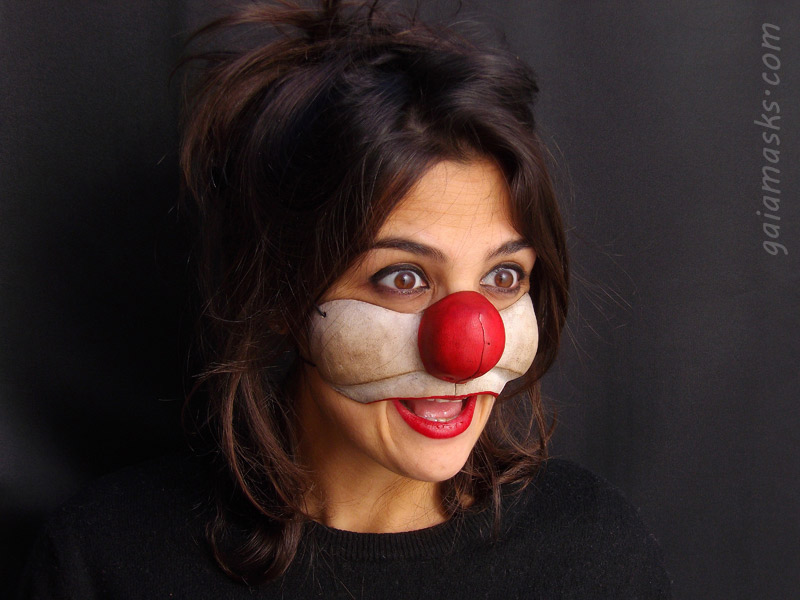 maschera Clown triste