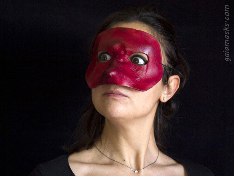 maschera in cuoio Capitano leggera
