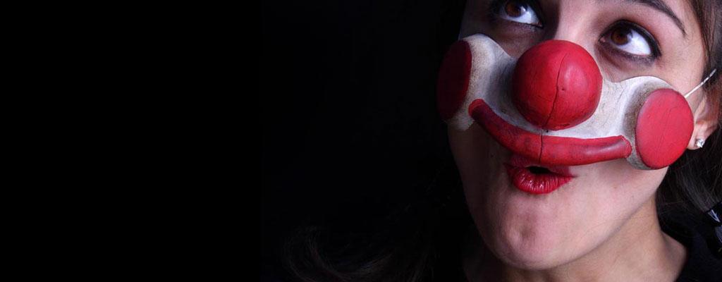 Maschere clown in cuoio