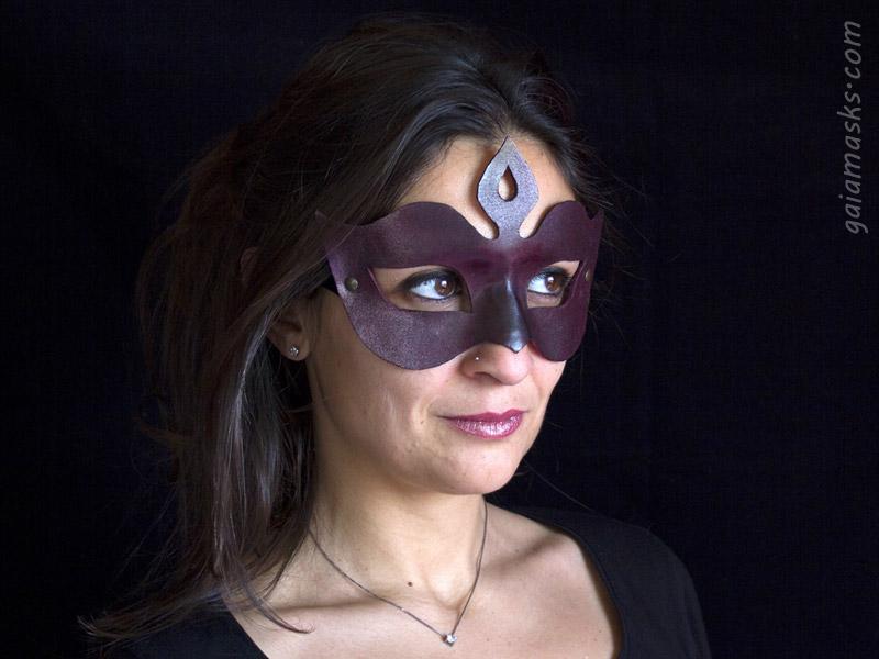 Diadema maschera in cuoio