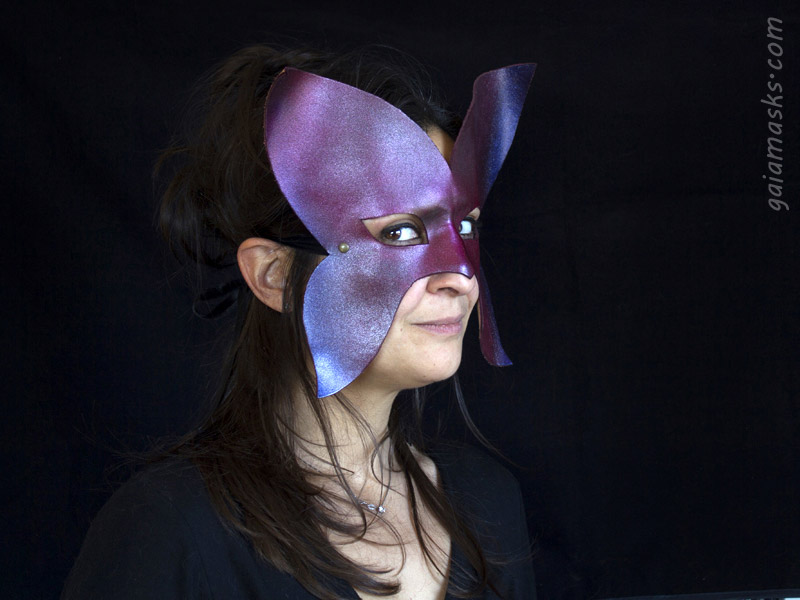 maschera metallizzata Farfalla