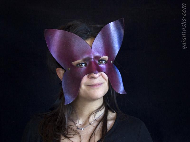 maschere di animali in cuoio: Farfalla