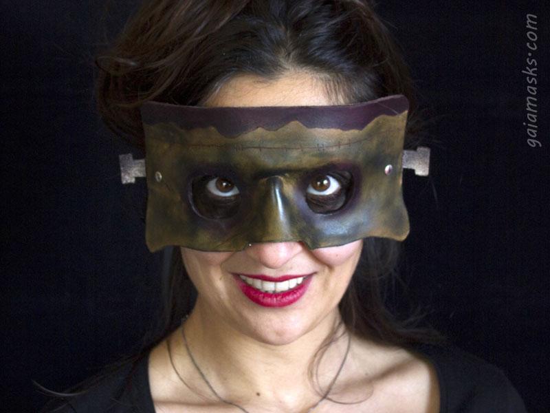 maschera Frankenstein piccolo in cuoio