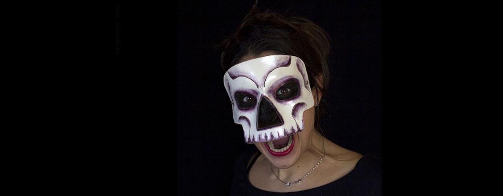 Maschere di Halloween in cuoio