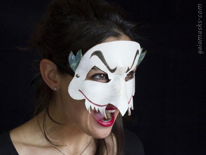Joker maschera in cuoio