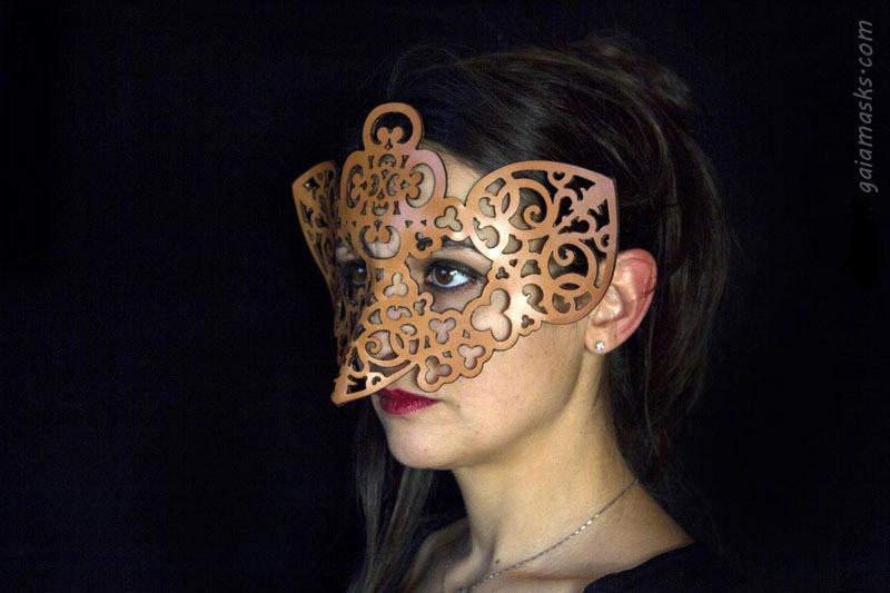 Gufo maschera lasercutted