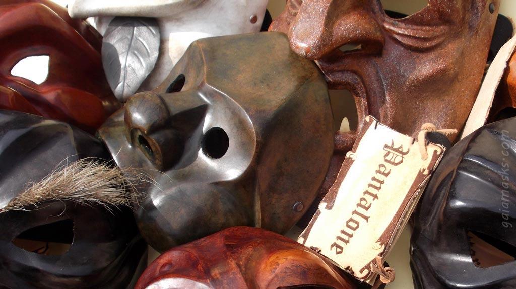 Maschere in cuoio, vendita e lavorazione artigianale