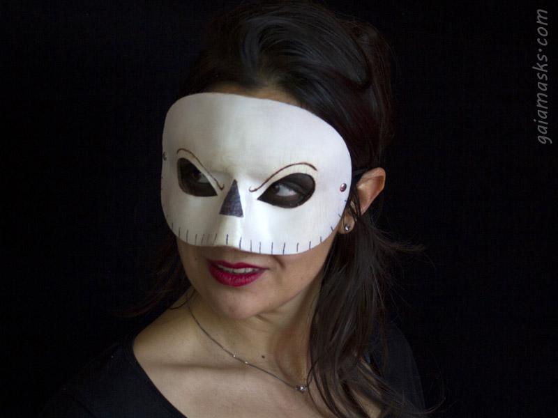 Mezza Maschera Elegante di Teschio