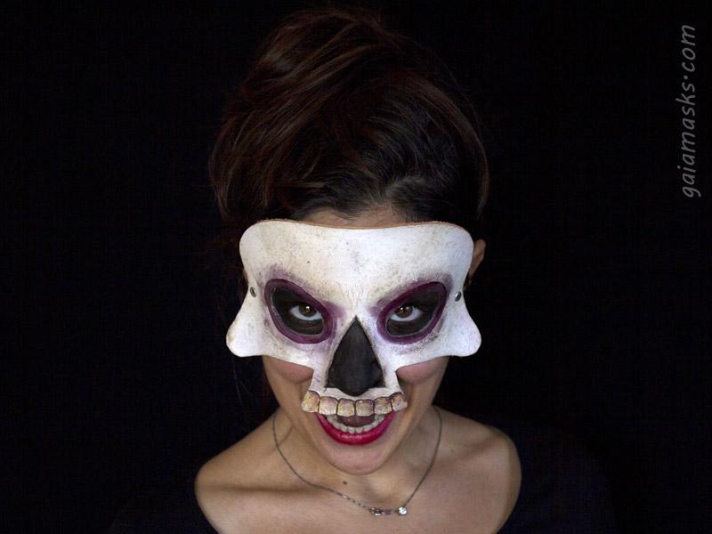 Maschera Teschio Umano in Cuoio