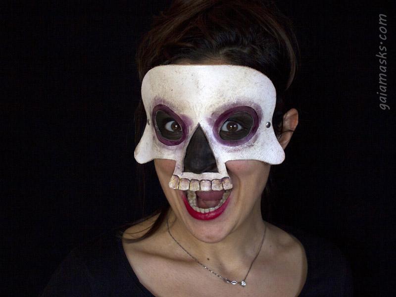 Mezza Maschera Teschio Umano