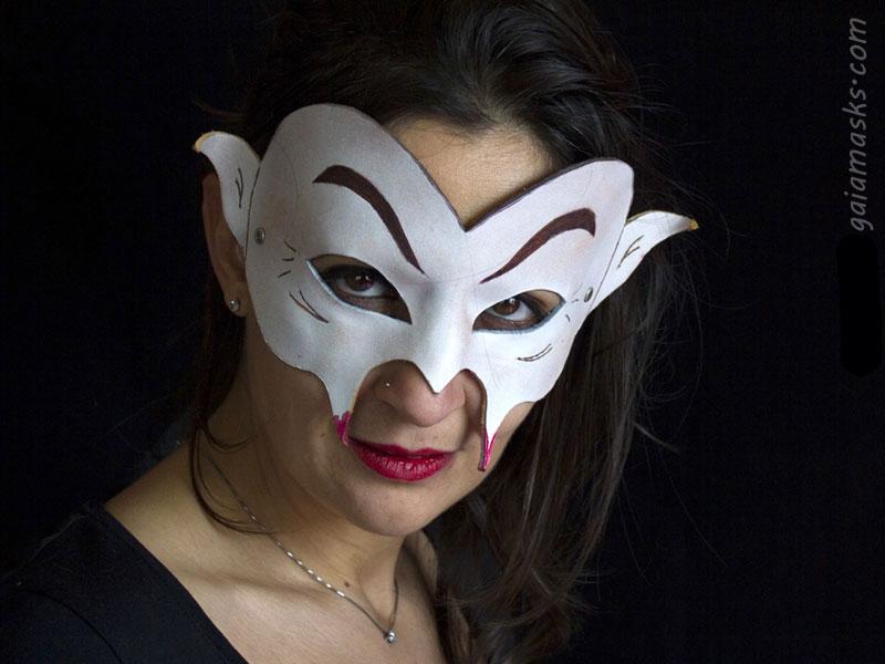 maschera Vampiro in cuoio