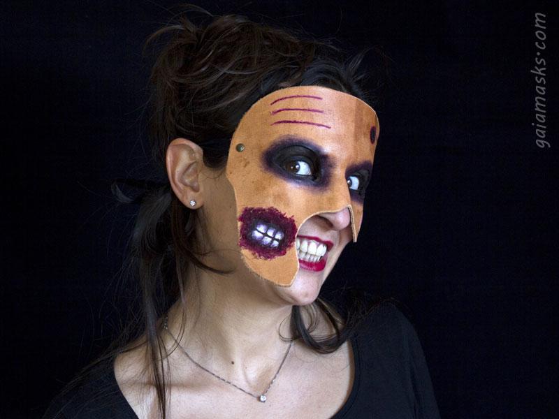 Maschera in Cuoio Zombie con Denti