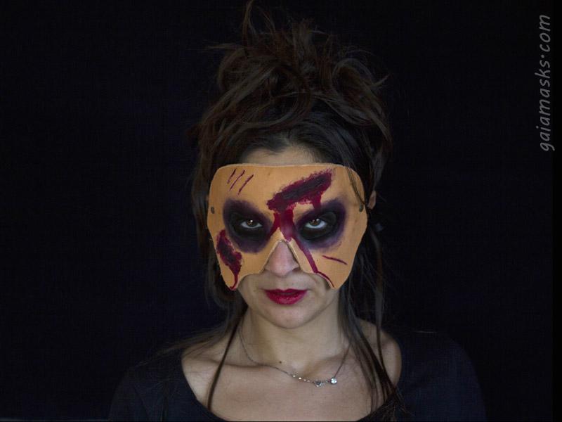 Maschera Spaventosa Zombie Ferite