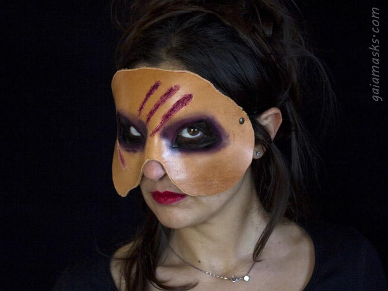Maschera Horror di Zombie con  Graffi