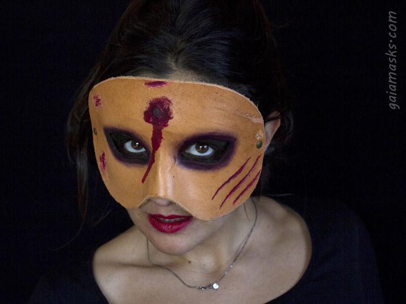 Maschera mezzo viso di Zombie con Sparo