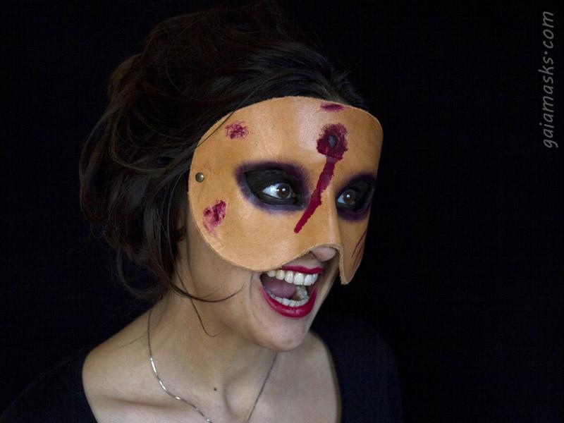 Maschera in Cuoio di Zombie con Sparo