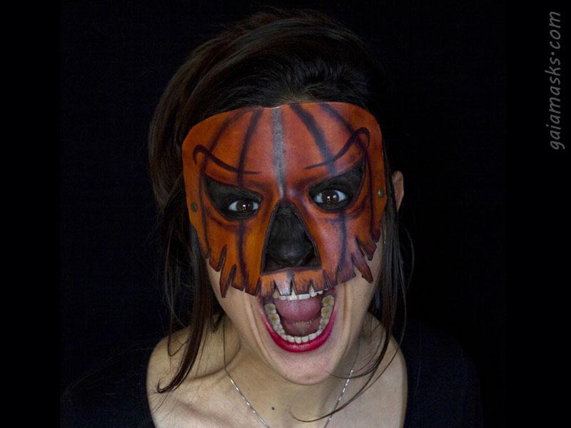 halloween maschera in cuoio Jack O' Lantern