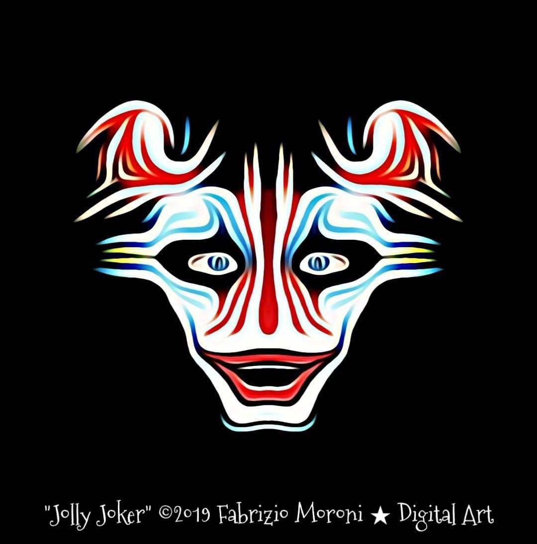 Progetto grafica con Maschera clown