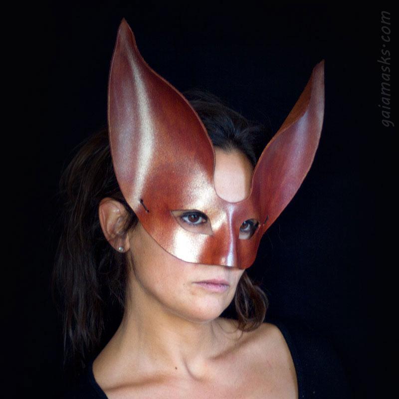 maschera in cuoio Coniglio